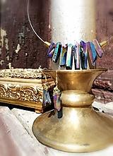 """Náušnice - Krištáľové náušnice, holograficky farbené """"Rawky"""" - 11784105_"""