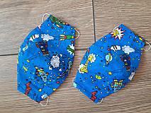 Rúška - Detské 3vrstvové  rúška - 11783591_