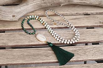 Náhrdelníky - Mala náhrdelník s minerálmi a drúzou - 11784379_