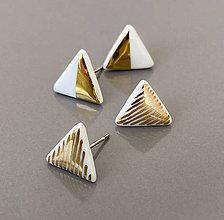 Náušnice - Trojuholníky. - 11783766_