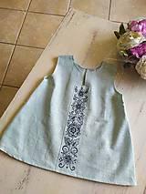 Detské oblečenie - Dievčenské ľanové šatočky - 11781773_