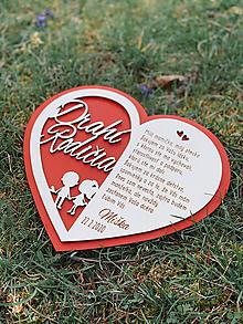 Darčeky pre svadobčanov - Svadobné srdce poďakovanie rodičom párik 49 - 11787724_