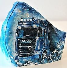 Rúška - RÚŠKO ručne maľované - Kamión - 11788056_