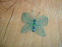 Odznaky/Brošne - Motýlik - 11785197_