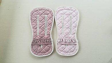 Textil - Bugaboo Donkey Twin seat liners / podložky pre dvojičky 100% MERINO Powder pink a Dusty pink - 11785534_