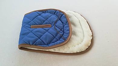 Textil - MERINO podložka do kočíka BUGABOO Bee / Buffalo/ Cameleon/ Donkey/ Joolz 100% WOOL Seat Liner ROYAL blue kráľovská modrá - 11787840_