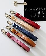 Kľúčenky - Kožená kľúčenka /11 farieb / - 11787576_