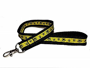 Kľúčenky - Kľúčenka žltá s labkami - 11787491_