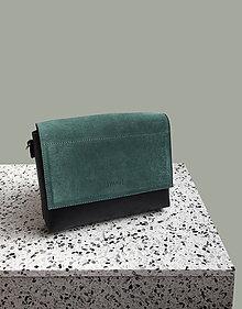 Kabelky - Leather bag smaragd - 11785908_