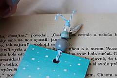 Papiernictvo - Drevená záložka - Vôňa knihy - 11785803_