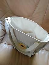 Veľké tašky - Ľanová taška s ručnou výšivkou - 11787092_