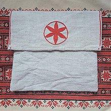 Úžitkový textil - Ľanové vrecko - 11785076_