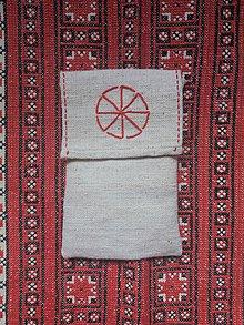 Úžitkový textil - Ľanové vrecko kolovrat - 11788276_