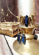 """Náušnice - Krištáľové náušnice,modré """"Rawky"""" - 11786250_"""
