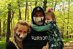 Rúška - Dizajnové rúška s iónmi striebra rodinný set - 11786010_