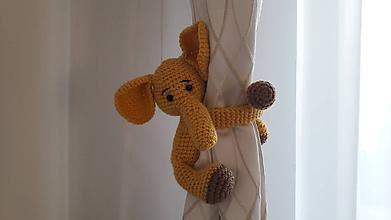 Hračky - baby zvieratko na záves/rúčku detskú (žltý) - 11787149_
