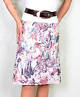 Sukne - Sukně z krásné rifloviny akvarel vz.691 - 11789473_