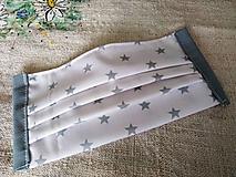 Rúška - Rúško hviezdičky s drôtikom - 11790321_