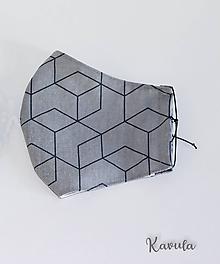 Rúška - Rúško DeLuxe  (Sivé kocky) - 11791686_