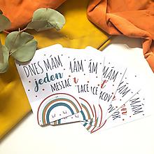 Detské doplnky - Rainbow mílnikové kartičky - 11792267_