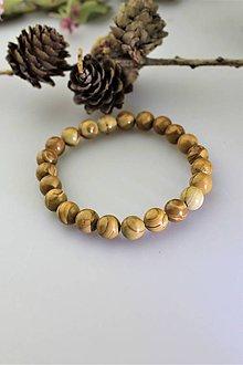 """Náramky - pánsky náramok z jaspisu """"skamenelé drevo"""" - 11790841_"""