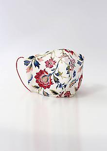 """Rúška - Dámske kvetinové dvojité rúško """"Isabelle"""" - 11789828_"""
