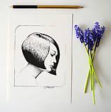 Kresby - Dívka s mikádem - originál - 11789927_