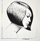 Kresby - Dívka s mikádem - originál - 11789932_