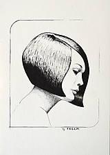 Kresby - Dívka s mikádem - originál - 11789933_
