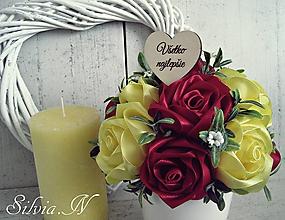 Dekorácie - Saténové ruže. - 11788536_