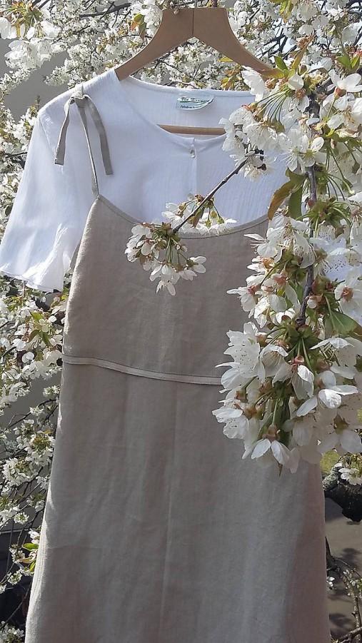 Šaty - Ľanové letné šaty  - 11790002_