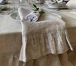 Úžitkový textil - Ľanové prestieranie s fodričkou na viac spôsobov - 11791729_
