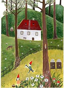 Obrazy - Detstvo ilustrácia / reprodukcia - 11792867_
