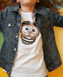 Detské oblečenie - Detské tričko s dlhým rukávom - OčiPuči Fillipo - 11795543_