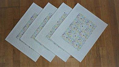 Úžitkový textil - Prestieranie jarné s kvietkami - 11793788_