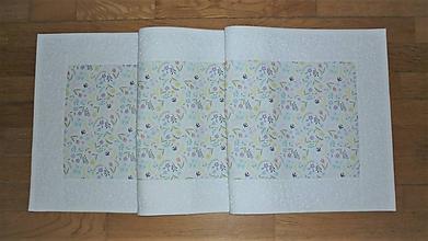 Úžitkový textil - Obrus, štóla na stôl jarná s kvietkami - 11793815_