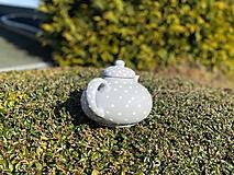 Nádoby - Šedý čajník - 11792965_