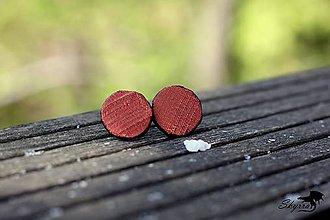 Náušnice - Hodvábne bodky - oranžové - 11795617_