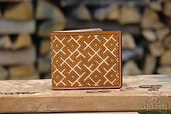 Peňaženky - Kožená peňaženka VI. • Kvet paprade - 11793794_