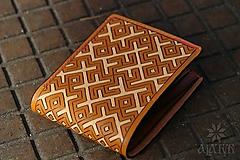 Peňaženky - Kožená peňaženka VI. • Kvet paprade - 11793796_