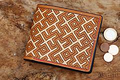 Peňaženky - Kožená peňaženka VI. • Kvet paprade - 11793797_