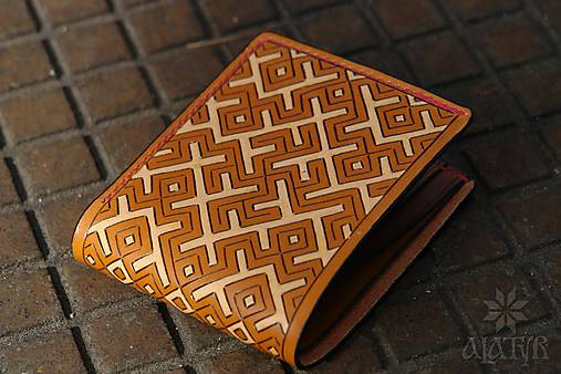 Kožená peňaženka VI. • Kvet paprade