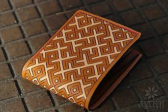Peňaženky - Kožená peňaženka VI. •Kvet paprade• - 11793796_