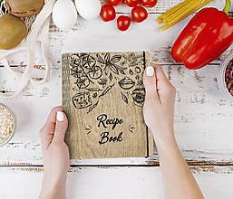 "Papiernictvo - Drevený receptár ""Recipe Book"" Kniha receptov - 11797320_"