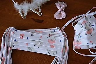Rúška - Detské ochranné rúško - dievčatko - 11793850_