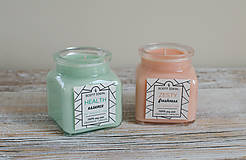Svietidlá a sviečky - Lesný Nádych | Zdráva Sójová sviečka | 100% Esenciálne oleje | Aromaterapia   - 11795034_