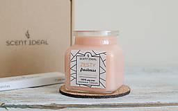 Svietidlá a sviečky - Pomarančová Záhrada | Zdráva Sójová sviečka | 100% Esenciálne oleje | Aromaterapia - 11795453_