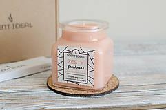 Svietidlá a sviečky - Pomarančová Záhrada | Zdráva Sójová sviečka | 100% Esenciálne oleje | Aromaterapia - 11795460_