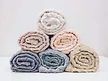 Textil - Minky deka z kolekcie Prikry_nôžky - biela - 11794838_