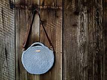 Veľké tašky - Háčkovaná kabelka KRUH / veľká - 11795112_